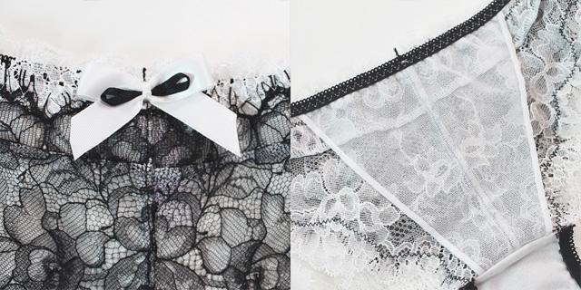 【Chasney Beauty】【チェスニービューティー】3017/29 《MUSE》 タンガ ホワイトXブラック