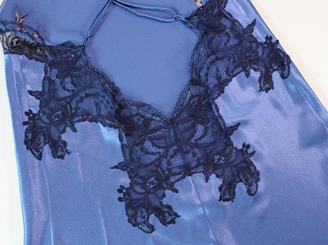 【COEMI】「Eternal Glam」 172239 バッククロス スリップ  SteelBlue/Royal