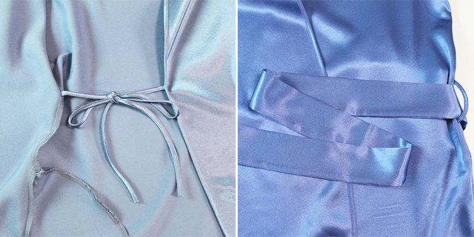【COEMI】【コエミ】「Eternal Glam」 172812 サテンガウン  Steel Blue/Royal